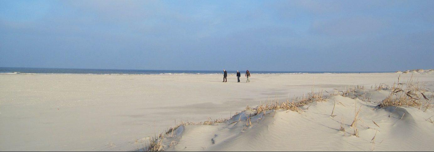 Uitgestrekte stranden op Schiermonnikoog